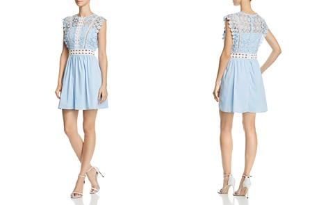 AQUA Lace & Poplin Fit-and-Flare Dress - 100% Exclusive - Bloomingdale's_2