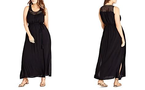 City Chic Plus Crochet Detail Maxi Dress - Bloomingdale's_2