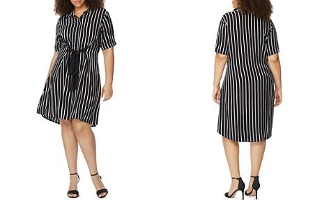 Rebel Wilson x Angels Plus Striped Tie-Front Shirt Dress - Bloomingdale's_2
