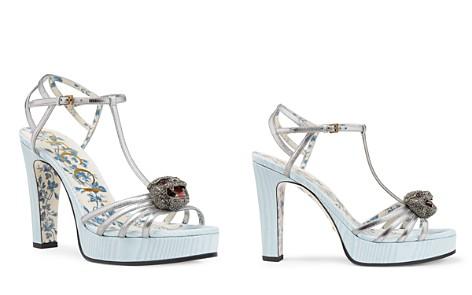Gucci Women's Elias Leather & Silk T-Strap Platform Sandals - Bloomingdale's_2