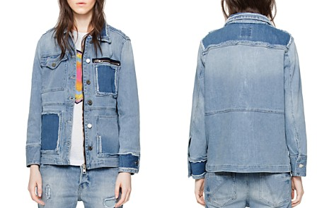 Zadig & Voltaire Kick Destroy Denim Jacket in Bleu - Bloomingdale's_2