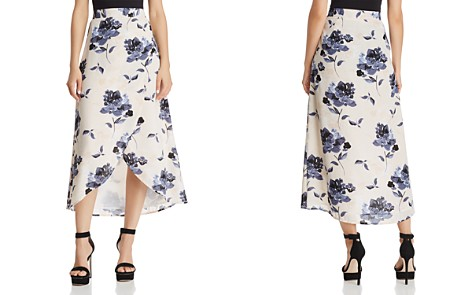 Olivaceous Floral Print Faux-Wrap Skirt - 100% Exclusive - Bloomingdale's_2