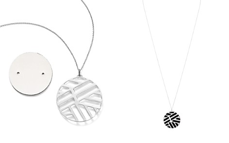 """Les Georgettes Ruban Round Pendant Necklace in Black/White, 30"""" - Bloomingdale's_2"""