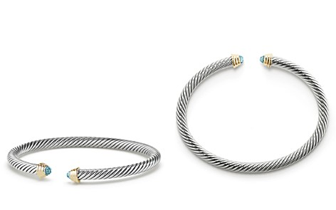 David Yurman Cable Kids Birthstone Bracelet with Aquamarine & 14K Gold - Bloomingdale's_2