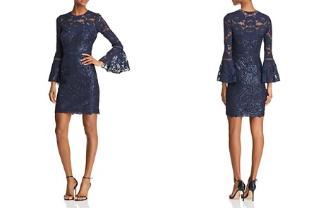 Tadashi Shoji Bell-Sleeve Lace Dress - 100% Exclusive - Bloomingdale's_2