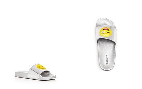 STEVE MADDEN Girls' Emoji Pool Slide Sandals, Little Kid, Big Kid - 100% Exclusive - Bloomingdale's_2