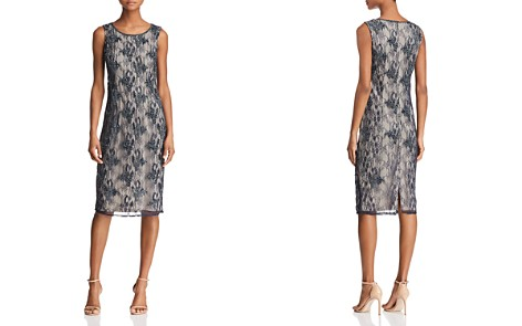 Adrianna Papell Beaded Lace Dress - Bloomingdale's_2