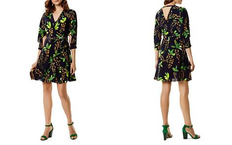 KAREN MILLEN Botanical Silk Wrap Dress - Bloomingdale's_2