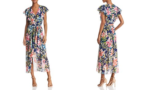 Eliza J Floral Faux-Wrap Dress - Bloomingdale's_2