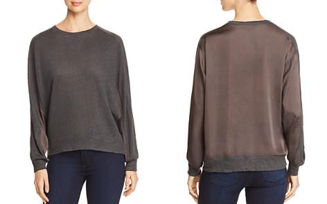 Kenneth Cole Mixed Media Sweatshirt Top - Bloomingdale's_2