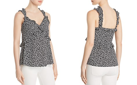 MICHAEL Michael Kors Giraffe Print Ruffled Camisole Top - 100% Exclusive - Bloomingdale's_2