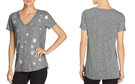 Kim & Cami Metallic Star-Print Graphic Tee - Bloomingdale's_2