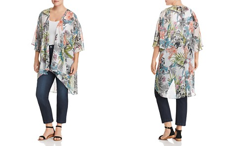 Status by Chenault Botanical Print High/Low Kimono - Bloomingdale's_2