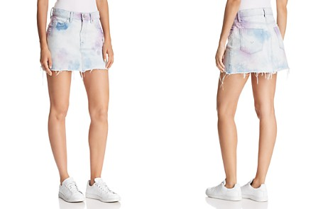 Hudson Viper Denim Mini Skirt in Not That Innocent - Bloomingdale's_2