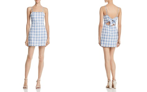 AQUA Gingham Tie-Back Dress - 100% Exclusive - Bloomingdale's_2