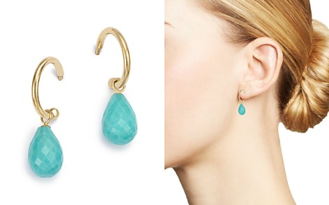 Bloomingdale's Turquoise Briolette Hoop Drop Earrings in 14K Yellow Gold - 100% Exclusive_2