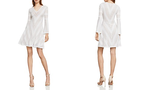 BCBGMAXAZRIA Bell Sleeve Lace A-Line Dress - Bloomingdale's_2