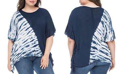 B Collection by Bobeau Curvy Trishe Asymmetric Tie-Dyed Top - Bloomingdale's_2