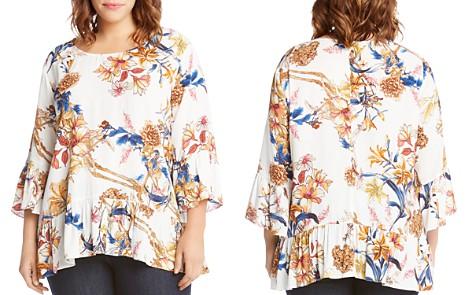 Karen Kane Plus Floral Bell Sleeve Top - Bloomingdale's_2