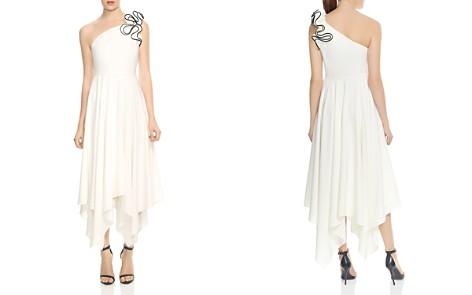 HALSTON HERITAGE One-Shoulder Ruffled Strap Dress - Bloomingdale's_2