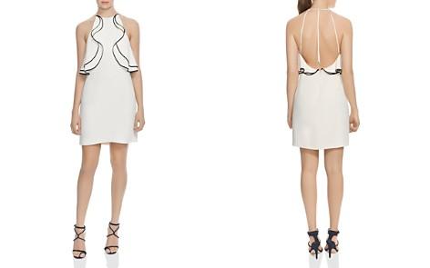 HALSTON HERITAGE Ruffled Crepe Halter Dress - Bloomingdale's_2