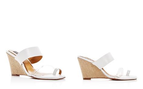JAGGAR Women's Wedged Leather Wedge Slide Sandals - Bloomingdale's_2