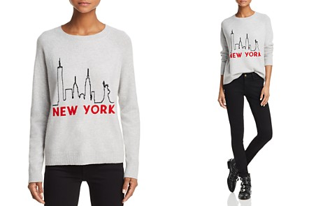 AQUA New York Skyline Cashmere Sweater - 100% Exclusive - Bloomingdale's_2