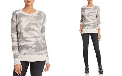 C by Bloomingdale's Camo Cashmere Sweater - 100% Exclusive _2