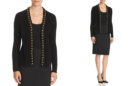 C by Bloomingdale's Chain-Trim Cashmere Cardigan - 100% Exclusive _2