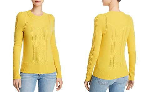 AQUA Cashmere Mixed Knit Cashmere Sweater - 100% Exclusive - Bloomingdale's_2