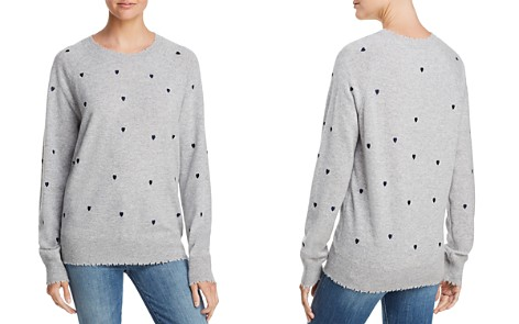 AQUA Cashmere Heart Embroidered Cashmere Sweater - 100% Exclusive - Bloomingdale's_2