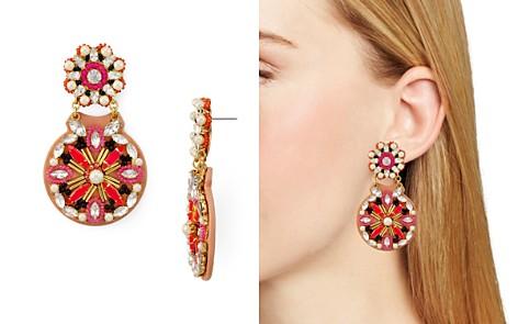 kate spade new york Beaded Medallion Statement Drop Earrings - Bloomingdale's_2