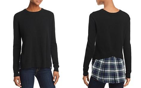 AQUA Cashmere Plaid-Hem Sweater - 100% Exclusive - Bloomingdale's_2