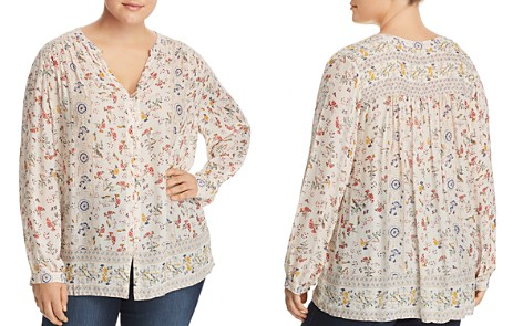 Lucky Brand Plus Floral-Print Peasant Top - Bloomingdale's_2