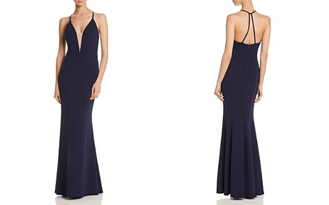 AQUA Scuba Crepe Mermaid Gown - 100% Exclusive - Bloomingdale's_2