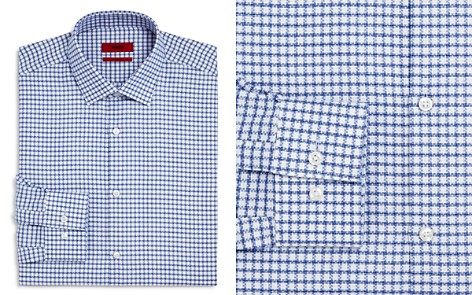 HUGO Textured Check Slim Fit Dress Shirt - Bloomingdale's_2