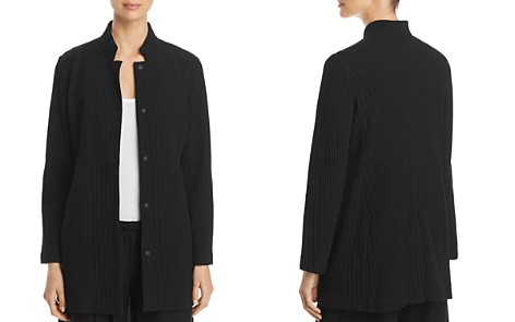 Eileen Fisher Stand Collar Textured Jacket - Bloomingdale's_2