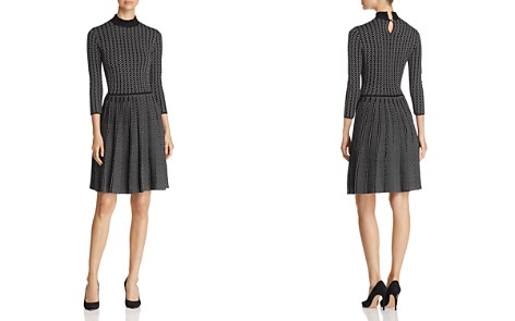 Emporio Armani Patterned Fit & Flare Dress - Bloomingdale's_2