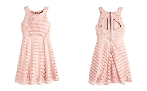 US Angels Girls' Glitter Shadow Stripe Dress - Big Kid - Bloomingdale's_2