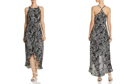 AQUA Palm Leaf High-Low Maxi Dress - 100% Exclusive - Bloomingdale's_2
