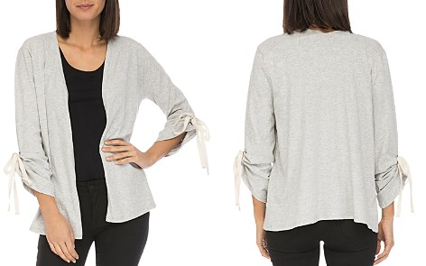 B Collection by Bobeau Nia Ruched-Sleeve Open Cardigan - Bloomingdale's_2