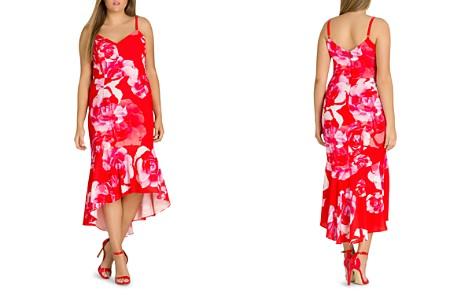City Chic Plus Tango Floral High/Low Midi Dress - Bloomingdale's_2