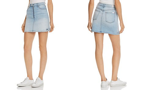7 For All Mankind Moto Denim Mini Skirt in Vintage Dawn - Bloomingdale's_2