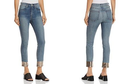 rag & bone/JEAN Metallic-Hem Ankle Cigarette Jeans in Bilbury - Bloomingdale's_2