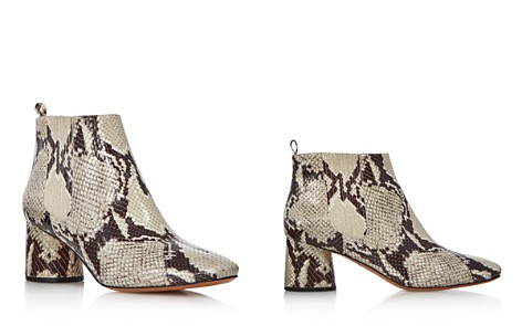 MARC JACOBS Women's Rocket Snake-Embossed Leather Round Block Heel Chelsea Booties - Bloomingdale's_2