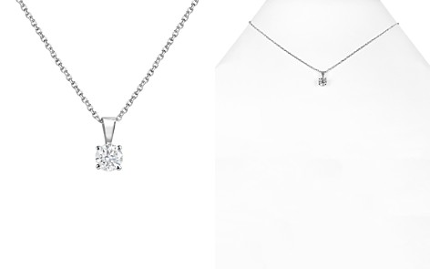 Bloomingdale's Diamond Solitaire Necklace in 14K White Gold, 0.50 ct. t.w. - 100% Exclusive_2