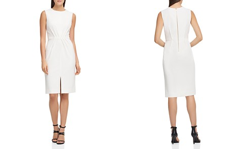Donna Karan Pintucked Scuba Crepe Dress - Bloomingdale's_2