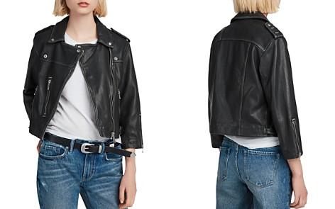 ALLSAINTS Lara Cropped Leather Biker Jacket - Bloomingdale's_2