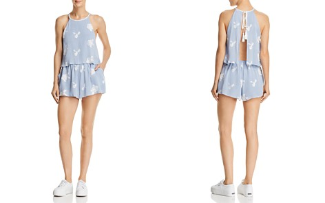 Lost + Wander Iris Embroidered Open-Back Romper - Bloomingdale's_2