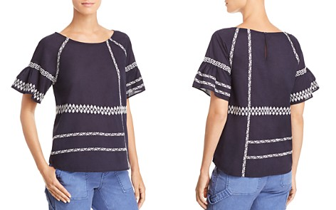 Joie Shoffie Embroidered Top - Bloomingdale's_2